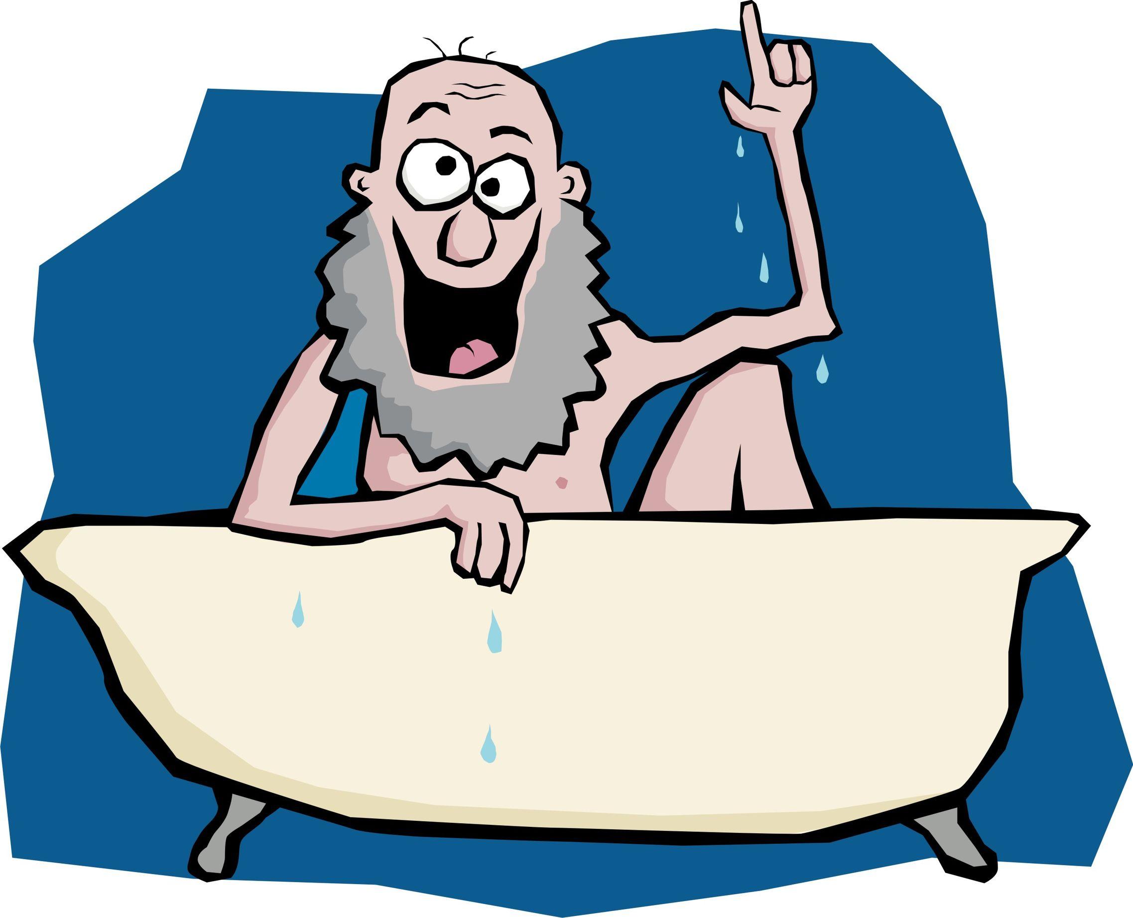 Archimedes, starożytny grecki naukowiec, reprezentuje swój wynalazek, ilustracji